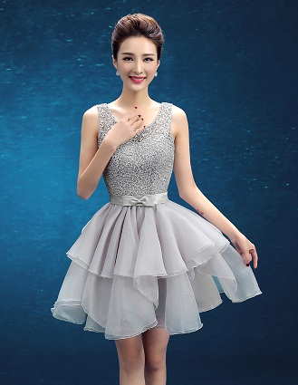4e3f1dfecf4d4 This one is another beautiful short frock for parties. It is sleeveless  with lace bodice with a lining. The skirt part is double layered and has a  small ...