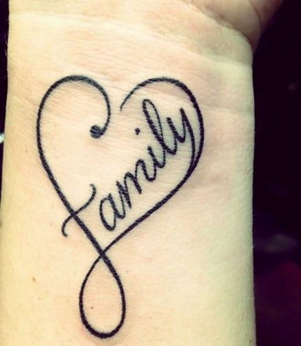 Single Word Tattoo Design