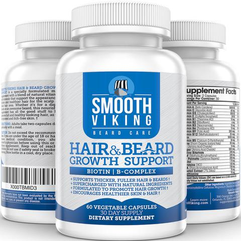 Smooth Viking Hair & Beard Growth Support