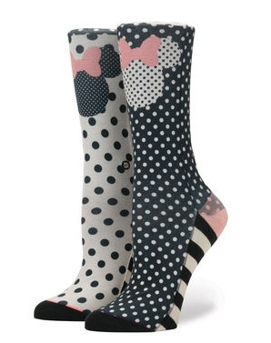 Sprinkled Minnie Mouse Womens Stance Socks