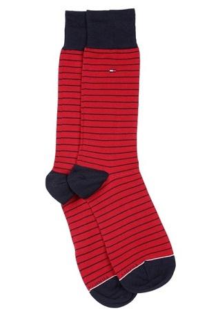 Striped Red Cotton Socks