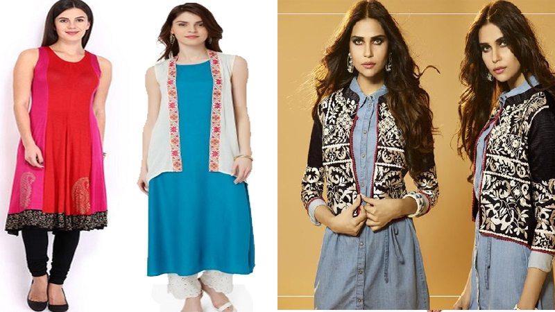 Stunning Kurtas with Shrug For Women In India