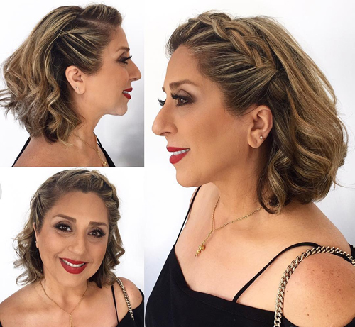 Front Braided Wedding Hairstyle