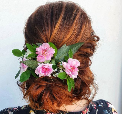 Flowers Summer Hairstyle