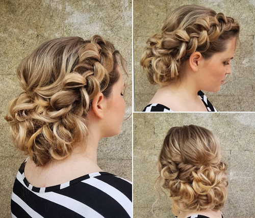 Perfectly Braided Summer Wedding Hairstyle