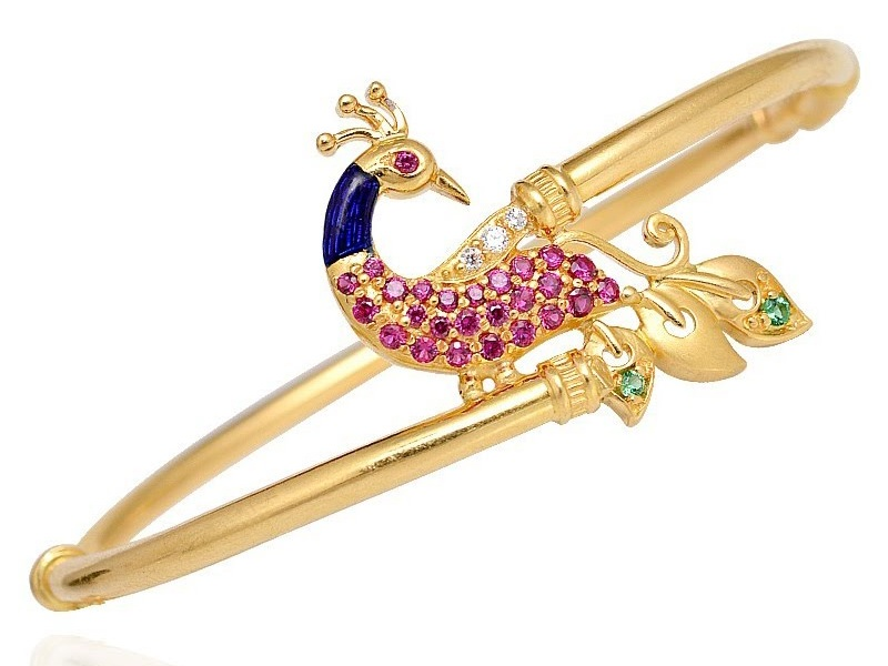 Thin Gold Bangles Jewellery