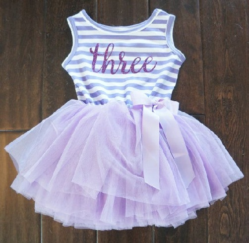 a0b89ab3d This unique birthday outfit for your little doll has pink white flower lace  with a big bow. This tiered; two pieces, sleeveless party dress with purple  ...