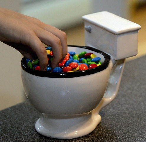 Toilet Jar with Candies