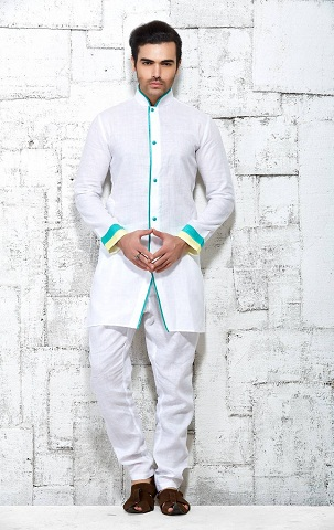 89ddcf89ba3b 15 Latest White Kurta Pajama Designs for Men in Fashion