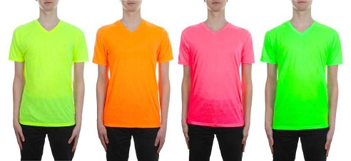 Top 9 different types of neon t shirt designs styles at life for Neon coloured t shirts