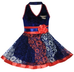 4b822d50061f This is a very cute blue velvet frock for baby. You can get it for your  little one to get a cute look. This is excellent choice as a party wear and  ...