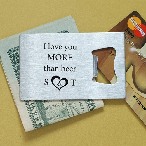 Wallet Bottle Opener Valentine's Gift