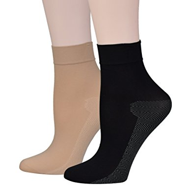 Warm Black Ankle Tight Socks