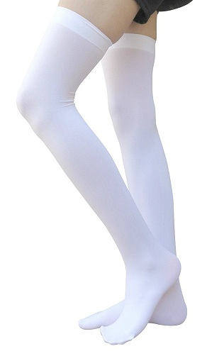 White Thigh High Socks