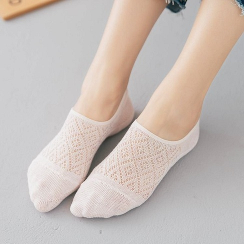 White Cotton Low Ankle Socks