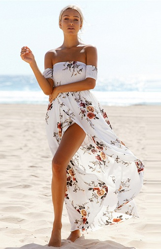 51ec00924d The trendiest and cool ladies summer dresses could be this type of off  shoulder dress. It is an obvious fact that the color white is the most used  hue ...