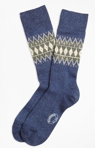 Mens Wool Socks Design with Silk Blend