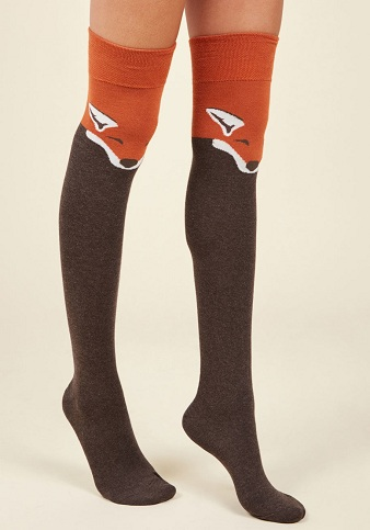 Woollen Thigh High Socks
