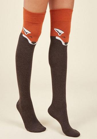 Woollen Thigh High Socks