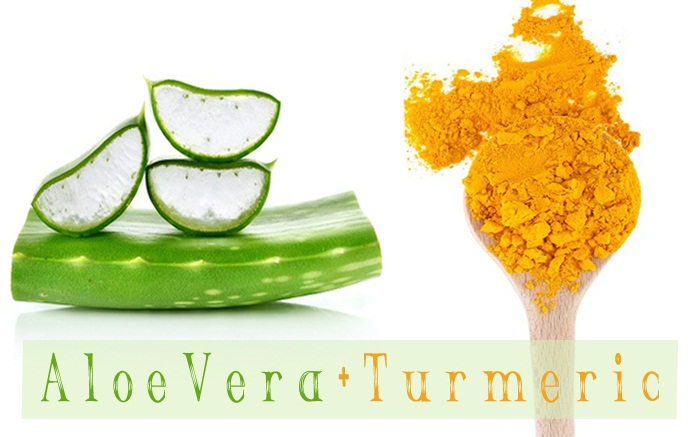 Turmeric and Aloe Vera for Pimples