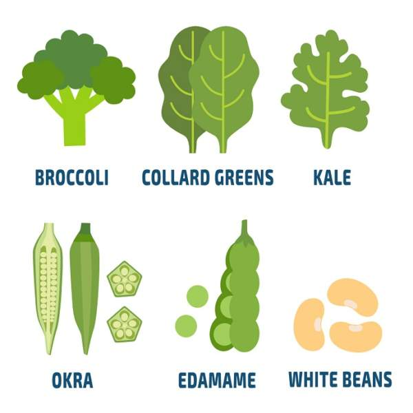 calcium rich vegetables