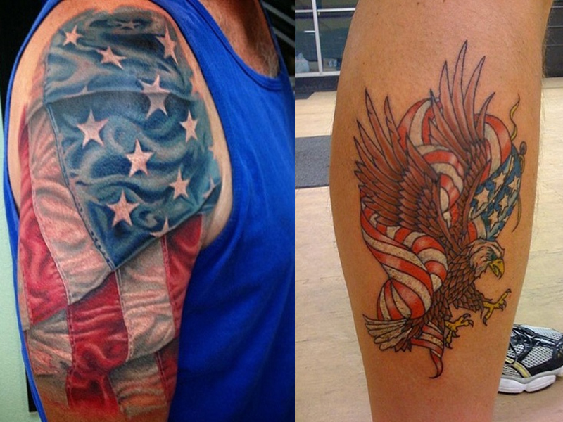 flag tattoo designs