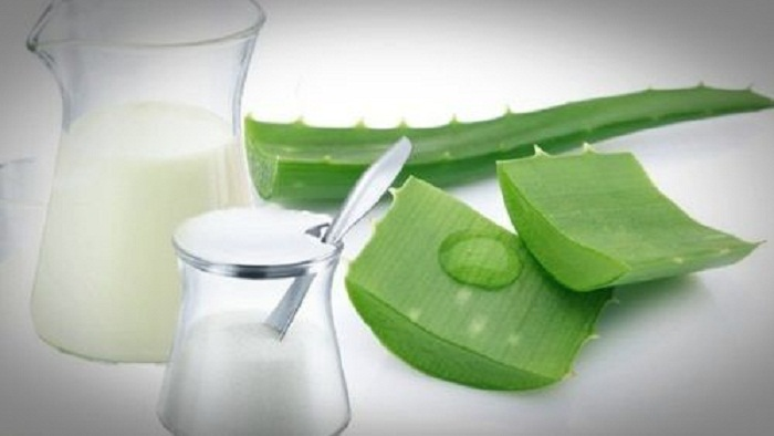milk and aloe vera for acne