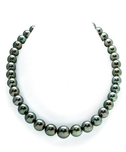 14k Gold Peacock Tahitian Green Pearls Set