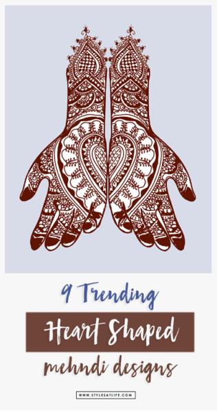 Heart shaped mehndi designs