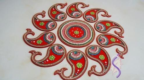 Acrylic Rangoli Designs