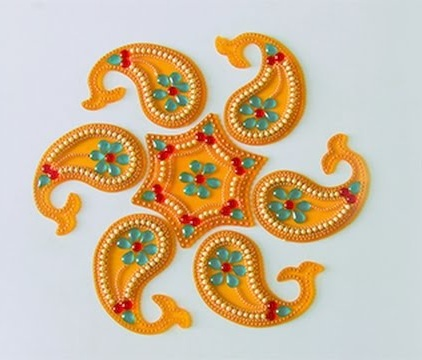 Acrylic Kundan Rangoli