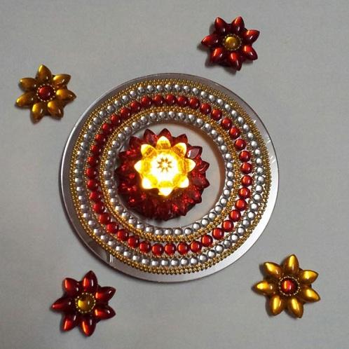 Acrylic Floating Ring Rangoli