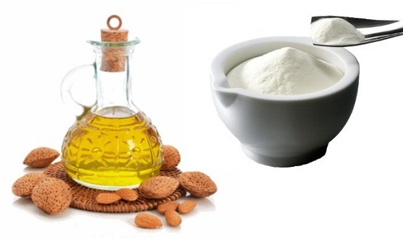 Almond Oil with Milk Powder