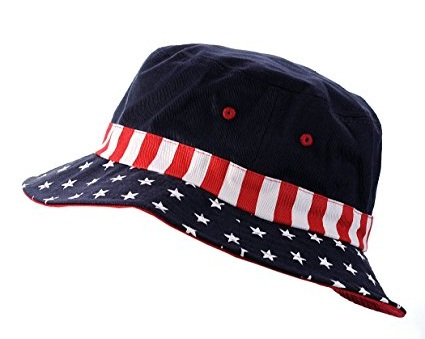 American Patriotic Stars and Stripes Bucket Hats