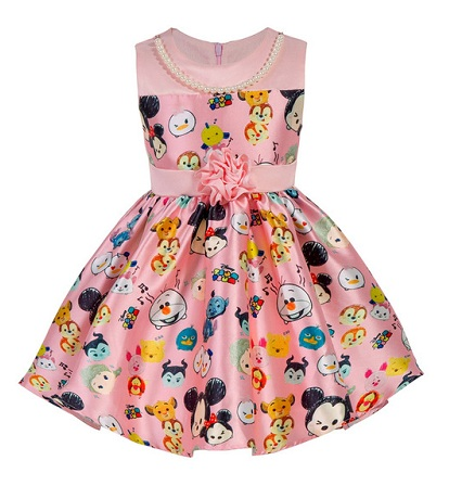 Baby Frock with Cartoon Face