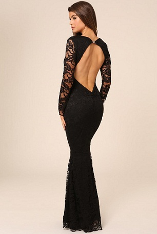 Backless Long Frock