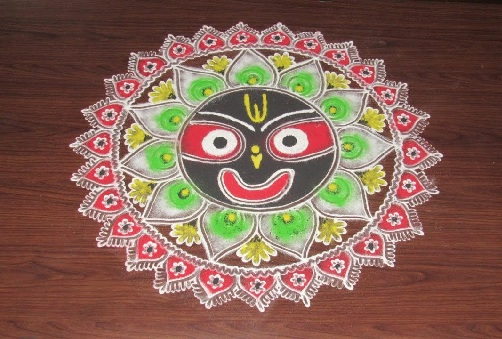 Beautiful Jagannath Rangoli Designs