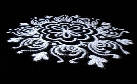 White Rangoli Designs
