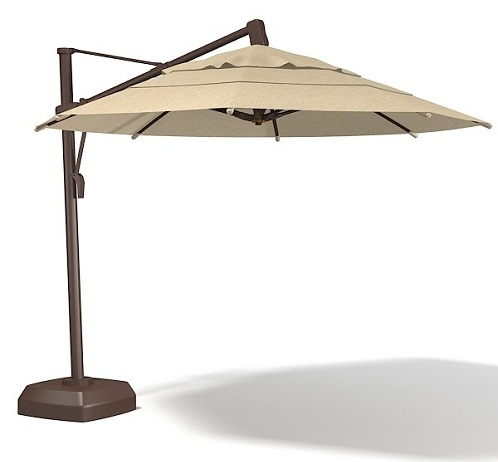 Beige Colored Canopy Garden Umbrellas
