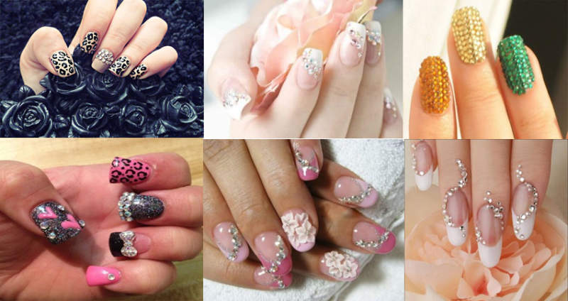 Rhinestone Nail Art Designs