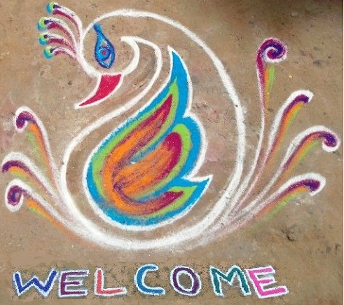 Bird Shaped Rangoli