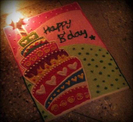 Birthday Cake Rangoli