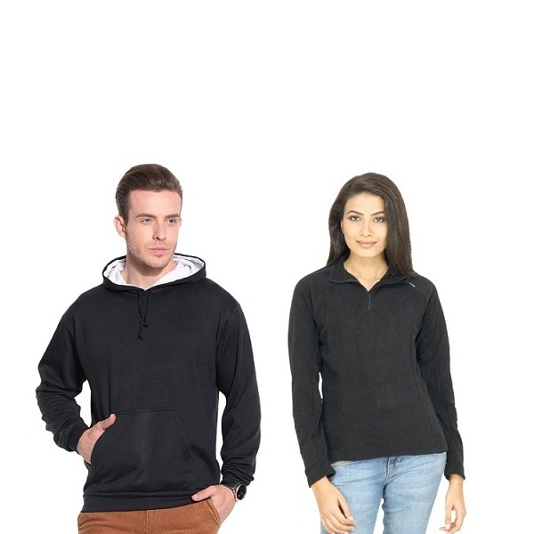 Black Sweatshirts with Different Necks