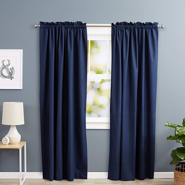 Blue Curtains in Different Designs