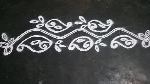 Border White Rangoli