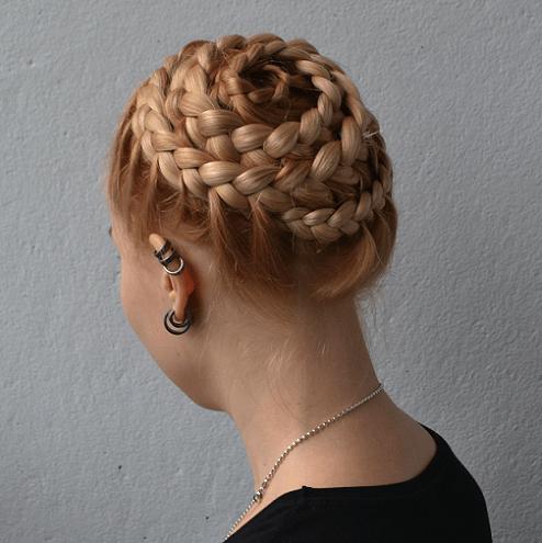 Braided Seashell Updo Blonde Hairstyles