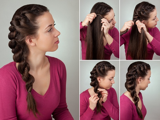 43. Simple Braided Hairstyle for Long Hair