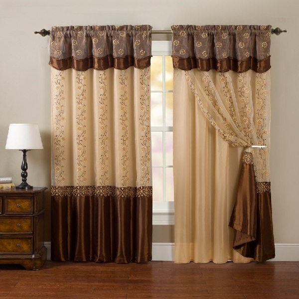 Brown Curtains in Latest Designs