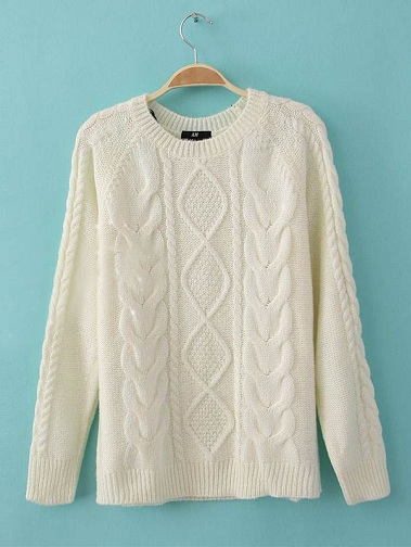 Cable Knit Women's Sweater