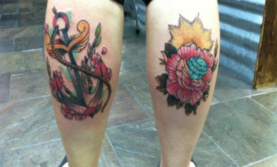 Calf Tattoo Designs for Women and Men